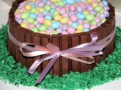 Big Bear's Wife {Recipes that are Angie Tested and BigBear Approved!}: Easter Kit Kat Cake