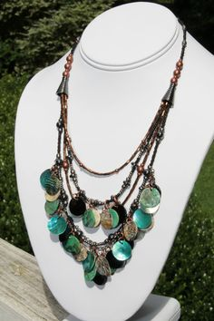 FREE SHIPPING Motu Lahi Statement Necklace Beaded by JaguarIsle on Etsy, $90.00    There's still time to get your gifts for Christmas! New pieces: turquoise, stone, metal, nature inspired. And VINTAGE pieces: some from 1940s & 1950s, sterling silver, copper, brass, Aurora Borealis, signed. Many items are ON SALE! Happy Shopping ツ    ★ FREE SHIPPING for ALL items (shipped to USA)  ★ FREE GIFT BOX for ALL items  ★ FREE EARRINGS (see Collections S A L E section)