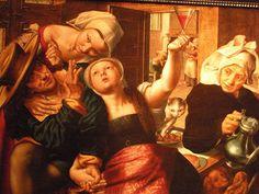Loose company | oil painting, 1543 | Jan Sanders van Hemessen