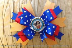 Your Choice Superhero Wonder Woman Inspired Big Bow Hair Bow by by SammyBananysHairBows, $9.00