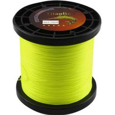 Titanline Super High Grade Fiber PE Briad Braided Fishing Line Yellow 40LB 1000M Meters >>> Want to know more, click on the image.