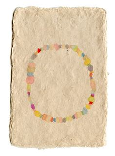 Looks like watercolor on handmade paper. I am wild about the simplicity! By Mia Christopher