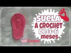 SUELA A CROCHET DE 6-9 Y 9-12 MESES ♥ - YouTube