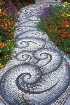 pad met klassiek patroon