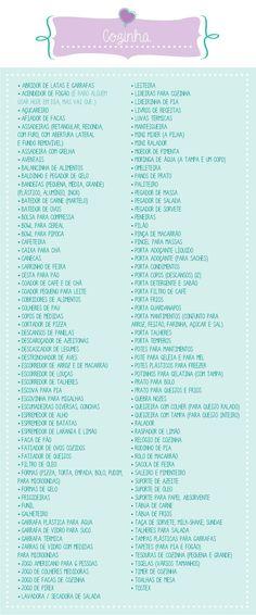 O que pedir no chá de cozinha | chá bar | chá de casa nova? Veja a lista completinha no blog clicando na imagem!