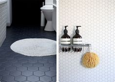 Unglazed Hexagon: As part of our popular Unglazed Victorian range, comes Unglazed Hexagon. A 10 x 10cm porcelain tile that is fully vitrified, meaning the colour is throughout the tile. It looks fabulous for hallway and foyer applications and because it is unglazed it provides a matt finish that is durable and long lasting. http://www.waxmanceramics.co.uk/blog/news/shape-up-with-hexagon-tiles/