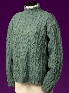 Simply gorgeous Cable and Garter Stitch Turtleneck Knitting Designs, Knitting Patterns, Men Sweater, Sweaters For Women, Fingerless Mitts, Easy Knitting, Garter Stitch, Cable Knit Sweaters, Pulls