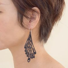 Statement Earrings, Drop Earrings, Simple Shapes, Butterfly Wings, 3d Printing, Fashion Accessories, Elegant, Detail, Unique