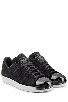 """The+quintessential+old-school+sneaker+made+modern,+the+suede+""""Superstar""""+from+Adidas+Originals+features+the+signature+shell+toe+in+shiny+metal+and+tone+on+tone+striping+#Stylebop"""