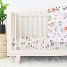 Britt's Blush Boho Garden Crib Bedding #BeddingSets
