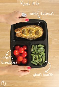 7 Days Of Healthy Meal Prep Ideas - Ready To Eat Meals and Protein On The Go With The Best Meal Containers - salmon recipe