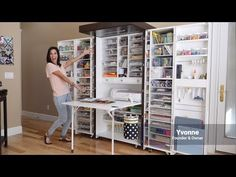 A place for all your organization and crafty storage needs. No more double buying or running all over your house to find all your supplies. Everything consolidated in one place, in view, and at reach. It even hides away after you are done creating.