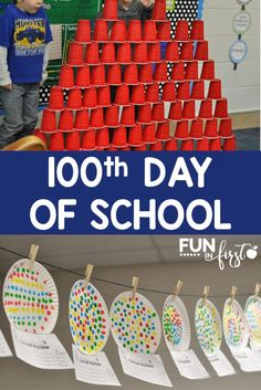 These hands-on 100th Day of School Activities are perfect for celebrating this fun day.