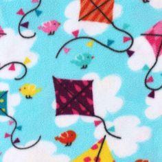 Anti- Pill Fleece Fabric- Go Fly A Kite