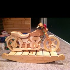 Handmade Wooden Motorcycle Rocker
