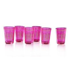 Shop for Handmade Pink Moroccan Tea Glass Set (India). Get free delivery On EVERYTHING* Overstock - Your Online Kitchen & Dining Outlet Store! Shot Glass Set, Wine Glass Set, Tea Glasses, Old Fashioned Glass, Cocktail Glass, Drinking Glass, Coffee Set, Tea Set, Crystals