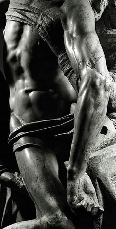 The deposition originally by Michelangelo for his own tomb, discarded and the claimed by Francesco Bandini, who hired an apprentice sculptor to finish the piece