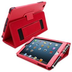The Snugg iPad mini Case in Red PU Leather. Buy Online from TheSnugg.com USA