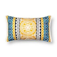 Oversized Lumbar Embroidered Global Throw Pillow – Threshold™ : Target