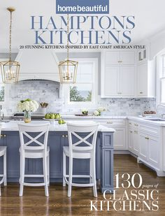 Home Beautiful's Hamptons Kitchens collector's edition is out now! Everything you need to design and create your own perfect Hamptons kitchen at home - by Diana Moore White Kitchen Decor, Kitchen Redo, Home Decor Kitchen, New Kitchen, Kitchen Interior, White Coastal Kitchen, Kitchen Paint, Kitchen Colors, Rustic Kitchen