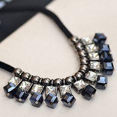 Луна лето геометрический кристалл падение жемчужина веревка цепочки колье себе ожерелья ювелирные изделия женщины N267 купить на AliExpress