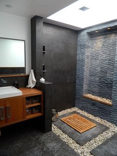 37 Interesting Spa Like Bathroom Designs Perhaps you have not noticed you deserve a fancy bathroom, so we put together a little gallery of 37 spa-like bathroom designs to inspire you. Spa Like Bathroom, Master Bathroom, Bathroom Ideas, Shower Ideas, Bathroom Vanities, Bathroom Renovations, Bathroom Wall, Bathroom Storage, Bathroom Lighting