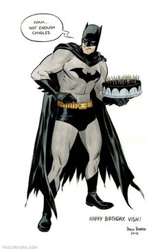 "happy birthday wishes ""Bat-Candles"" by Paolo Rivera Birthday Wishes Funny, Happy Birthday Pictures, Happy Birthday Funny, Happy Birthday Messages, Happy Birthday Greetings, Batman Birthday Meme, Birthday Memes, Happy Birthday Superhero, Birthday Cake"