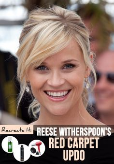 Reese Witherspoon - Born on 22 March 1976 in New Orleans, Louisiana (USA). Birth name was Laura Jeanne Reese Witherspoon. Side Fringe Hairstyles, Hairstyles With Bangs, Pretty Hairstyles, Drawing Hairstyles, Updo Hairstyle, Hairstyle Photos, Elegant Hairstyles, Medium Hair Styles, Short Hair Styles
