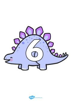 Cijferlijn: dino's Dinosaurs Preschool, Dinosaur Activities, Dinosaur Crafts, Infant Activities, Baby Activites, Math 2, Letters And Numbers, Math Centers, Smurfs