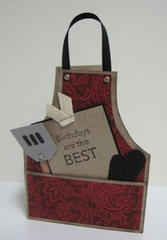 BBQ Apron Card by LorriHeiling - Cards and Paper Crafts at Splitcoaststampers