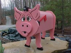 PIG MAILBOX PIGS MAILBOXES HOG HOGS GREAT GIFT