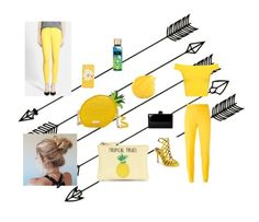 Out of the Blue - Into the Yellow by mex2 on Polyvore featuring polyvore, fashion, style, WearAll, 7 For All Mankind, Moschino, Steve Madden, New Look, Kate Spade and clothing