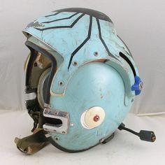 U.S. Navy APH-6B dual visor helmet w/ spider design