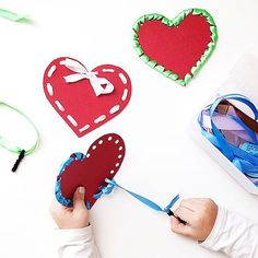 Stitching Classes, Home Crafts, Diy Crafts, Day Camp, Valentine Day Crafts, Motor Skills, Kids Playing, Nursery, Techno