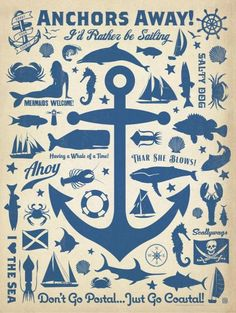 Anchor Pattern Square Poster by Anderson Design Group Anchor Canvas, Anchor Print, Maritime Tattoo, Fine Art Prints, Canvas Prints, Canvas Art, Big Canvas, Canvas Size, Photo Canvas