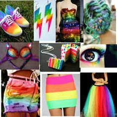 Rainbow dress clothes outfits