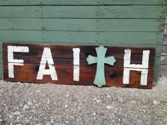 FAITH Reclaimed Wood Sign Handpainted by Junque2Jewels on Etsy, $55.00