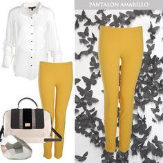 #TipDeModa ¿Cómo combinar unos pantalones amarillos? > www.tiendafucsia.co