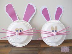 trace feet for bunny ears! so cute!