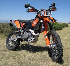2008 KTM 530 EXC-R with lots of our products...fun bike! Great excerise ;)