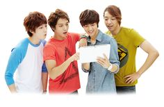 "Samsung reveals CNBLUE's individual CF's for ""Galaxy Note 10.1″"