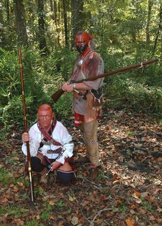 Zane Hope and Robert Rambo in a fantastic impression of 18th century Cherokee Indians for a documentary shoot I was doing for South Carolina National Heritage Corridor on Healing Springs in 2009