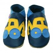 Digger Navy Blue Baby Shoes