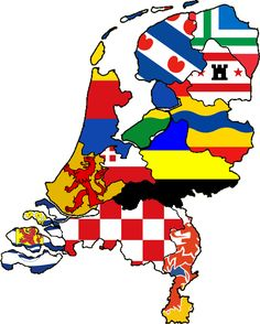 Flags of Provinces of the Netherlands.