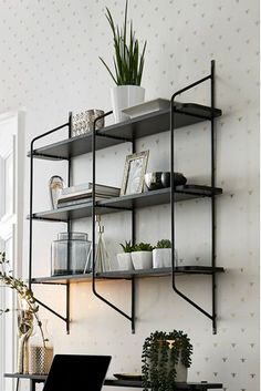 Buy Carter Wall Shelf from the Next UK online shop Black Wall Shelves, Bookcase Shelves, Shelf, Shelving Units, Corner Shelves, Bookcases, Wooden Shelves, Home Decor Bedroom, Home Living Room