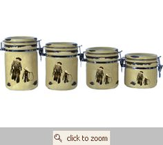 Cowboys Canister Set. Western KitchenKitchen ...