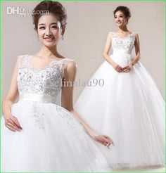 2014 White Sexy Wedding Dresses with Appliques Hot Ball Gown Wedding Dresses | Buy Wholesale On Line Direct from China