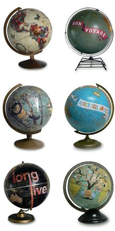 Saw this on Mod Podge Rocks blog....such a cool idea but I love old globes & don't think I could alter one