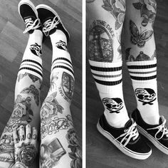 Inked Old School tattoo's ...