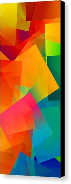 Simple Cubism 22 Canvas Print by Chris Butler.  All canvas prints are…